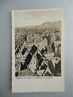 Ansichtskarte  Heilbron a.N. Rathaus mit Wartberg im Hintergrund (Nr.629)