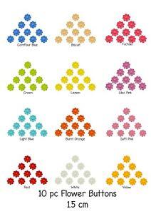 Buttons. Flower. 15mm. Children adult. Cardigan. 12 colours.