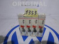 4 Spark Plugs Ignition Longlife Spark Plug Original AUDI 100 80 VW Golf 2 Seat