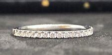 De Beers Platino Diamante anillo medio banda de la eternidad