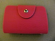 Leather Credit Card / Business Card Case (Rose)  (New)