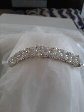 Pearl Rhinestone Headband,Swarovski Crystal Headband,Ribbon Headband