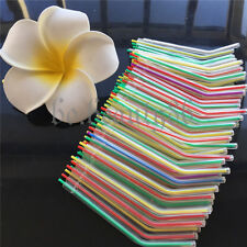 100x Colorful Plastic Disposable 3 Way Dental Syringe Air Water Nozzles Tips