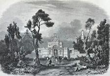 Château d'Anet gravure sur acier c 1860 Île-de-France Henri II Diane de Poitiers