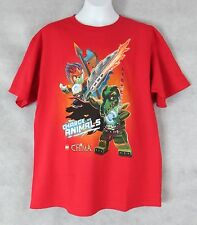 Lego Chima Boys T-Shirt New Red Chrge Like Animals XL 18 Officially Licensed