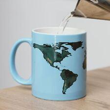 Taza de calentamiento global calor sensible cambio de té café