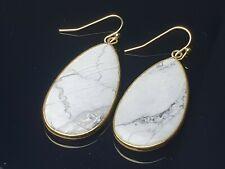 Goldfluss Tropfen Ohrringe Ohrhänger 24 x 6 mm flach mit Brisuren rhodiniert