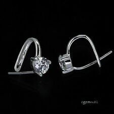 Sterling Silver CZ Pinch Bail Pendant Clasp Slider 1pc #97493