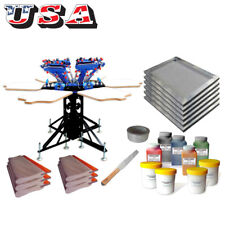 6 Colors Screen Printing Materials Kit Start Hobby Tools Micro Registration