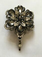 Black/silver Diamanté Hair Pin Slide
