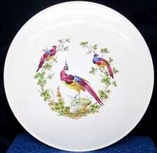Spode Cake Plate In Colorful Black Bird Design #32 Made In England 11 1/2 inches