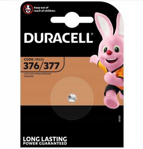 Duracell 377 1.5v Silver Oxide Watch Battery Batteries SR626SW AG4 626 D377.060