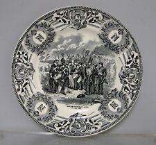 Assiette en faïence Boch La Louvière. Mort du maréchal Lannes.