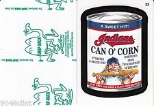 2016 WACKY PACKAGES MAJOR LEAGUE BASEBALL GREEN LUDLOW #23 INDIANS CAN O CORN