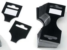 96 Black Wrap Header Cards For Necklace & Bracelet Display