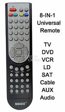 Universal Remote Controller 8 IN 1 TV DVD VCR Satellite Receiver Cable Box Audio