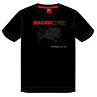 2019 Ducati Corse Racing MotoGP Mens T-Shirt PANIGALE V4 Bike Design on Front