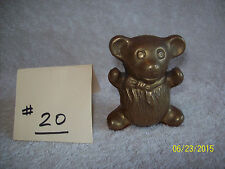Adorable Small Brass Teddy Bear with Bow Around his Neck (#20)