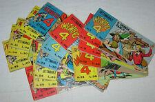 I MAGNIFICI 4  lotto 8 pezzi  Ed. Bianconi 1963  !!!!!!!!!!!!!!!