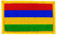 FLAG PATCH PATCHES Mauritius Islands  COUNTRY  IRON ON EMBROIDERED SMALL