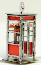 446S-DM HO Cabina telefonica SIP italiana moderna montata e con illuminaz. int.