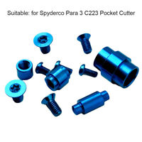 Shank Rustproof Screw Pivot Kit Titanium Alloy Repair For Spyderco Para 3 C223
