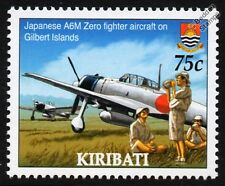 MITSUBISHI A6M ZERO WWII Japanese Fighter Aircraft on Gilbert Islands Stamp
