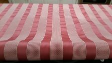 "Braemore Balacet Camelia pink/white stripe & check fabric 55"" width NEW!"
