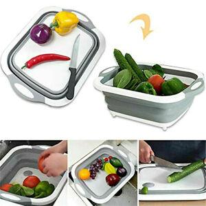 Foldable Chopping Board Drain Basket Multi-Function 3 In 1 Sink Cutting Boar_MG