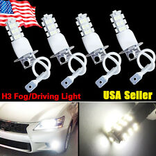 4x H3 3528 25 SMD Xenon White LED Bulbs Car Fog Driving DRL Light Lamps 12V