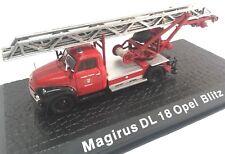 Magirus DL 18 Opel Blitz Camión bomberos fire truck 1/72 ATLAS Diecast