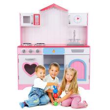 Cocinita de Juguete Color Rosa Madera Juegos Educativos para Niños de 3 a 9 Años