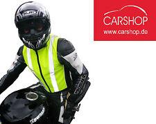 Warnweste Sicherheitsweste Weste Motorrad Biker Überziehweste safety vest XL