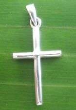 "100% REAL 925 sterling silver (14x29mm) PLAIN ""Small CROSS"" pendant - BOY GIRL"