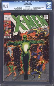 X-MEN #55 (1969) CGC 9.2 NM- / White pages / Marvel Comics / Origin of Angel!