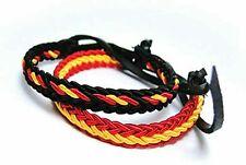 Pulsera hilo trenzado colores bandera España 2 unidades