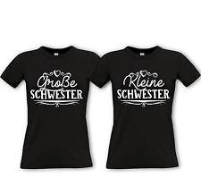 Grosse Schwester + Kleine Schwester -Partner Shirts- Sister Geschwister Love /2