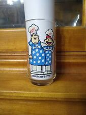 Burger Chef and Jeff promo glass