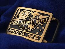 B7192 OA BSA Scouts 1987- 88 WORLD JAMBOREE - MAX SILBER BUCKLE