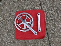 CAMPAGNOLO CHORUS CRANKSET DOUBLE 172.5MM 8,9 OR 10 SPEED 53-39T BREV 9/16th