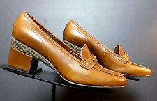 Vintage Amalfi Italy Brown Leather Pumps Sz. 6.5B UNWORN New Old Stock WOW!!!!!