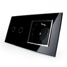 Funk Glas Rolladenschalter Steckdose Touchscreen VL-702WR-12/C7C1EU-12 LIVOLO