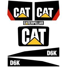Decal Sticker Set CAT D6K Bulldozer Decal Set
