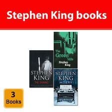 Stephen King collection 3 books set Fiction pack Shining, Green Mile, Misery NEW