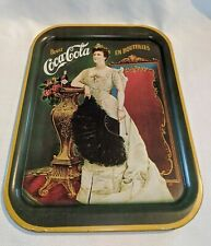 Vintage 1968 Coca-Cola Tray Printed in USA 1904 Lillian Russell ANTIQUE