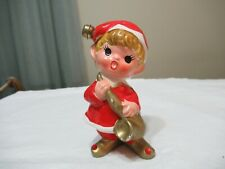 Vtg Elf Inarco E-35-7 Pixie Playing Saxaphone Christmas (Ad 25)