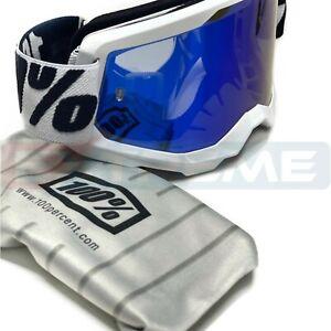 100% STRATA 2 EVEREST Goggles Motocross Dirtbike Enduro Off-Road MTB MIRROR LENS