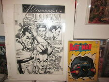 Superman COVER ART LARGE NEAL ADAMS ACETATE PROOF Action #374 DC Comics 1968 B&W