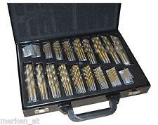 Bohrer Set 170 tlg TITAN HSS TiN Metallbohrer Sortimentkoffer Bohrerkassette