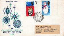 Großbritannien 1966 - FDC - Weihnachten / Christmas 1966